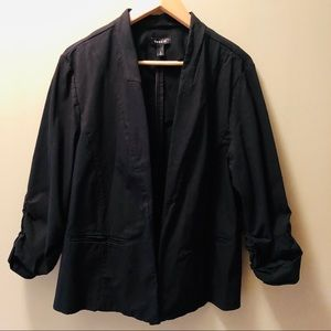 Torrid Stretch Blazer Ruched Sleeves Open Front 3X